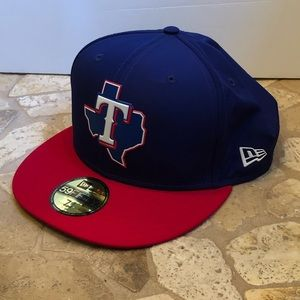 Texas Rangers NWT New Era Fitted Hat 7 3/4 MLB